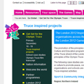 London 2012 Get Set Truce website