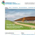 Commission for a Sustainable London 2012 website