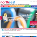 North East for 2012 Games website