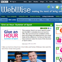 BBC Give an hour Summer of Sport website