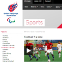 British Paralympic Association Football 7-a-side website