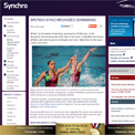 British Synchronised Swimming website