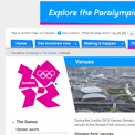 London 2012 venues archived website