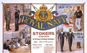 Detail from a Royal Navy recruitment poster (catalogue reference: ADM 1/8331)