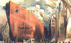 National War Bonds: Ship-building scene (catalogue reference NSC 5/7)