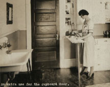 An extra use for the cupboard door: Canada, early 1920s
