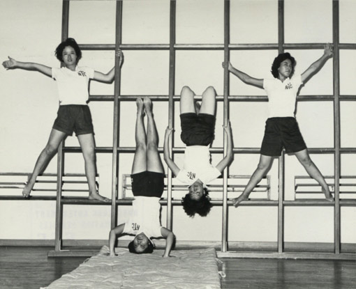 Teacher Training in Hong Kong. Student teachers of the Northcote Training College in the gymnasium, 1962. Catalogue reference: CO 1069/478