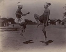 Burmese Boxing, Burma, 1903. Catalogue reference: CO 1069/419