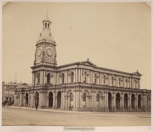University Buildings, Dunedin, South Island, New Zealand, 1923. Catalogue reference: CO 1069/633