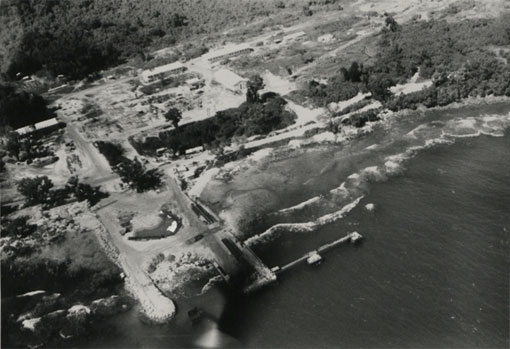 Arrival photograph of the installations at Forari, Vanuatu. Catalogue reference: CO 1069/671