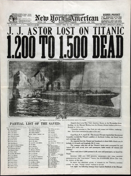 Titanic The National Archives