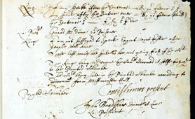 Transcript of the trial of Charles I, 1649  (Catalogue reference: SP 16/517)