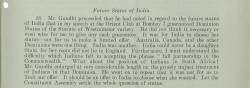 Image of Gandhi on Dominion status