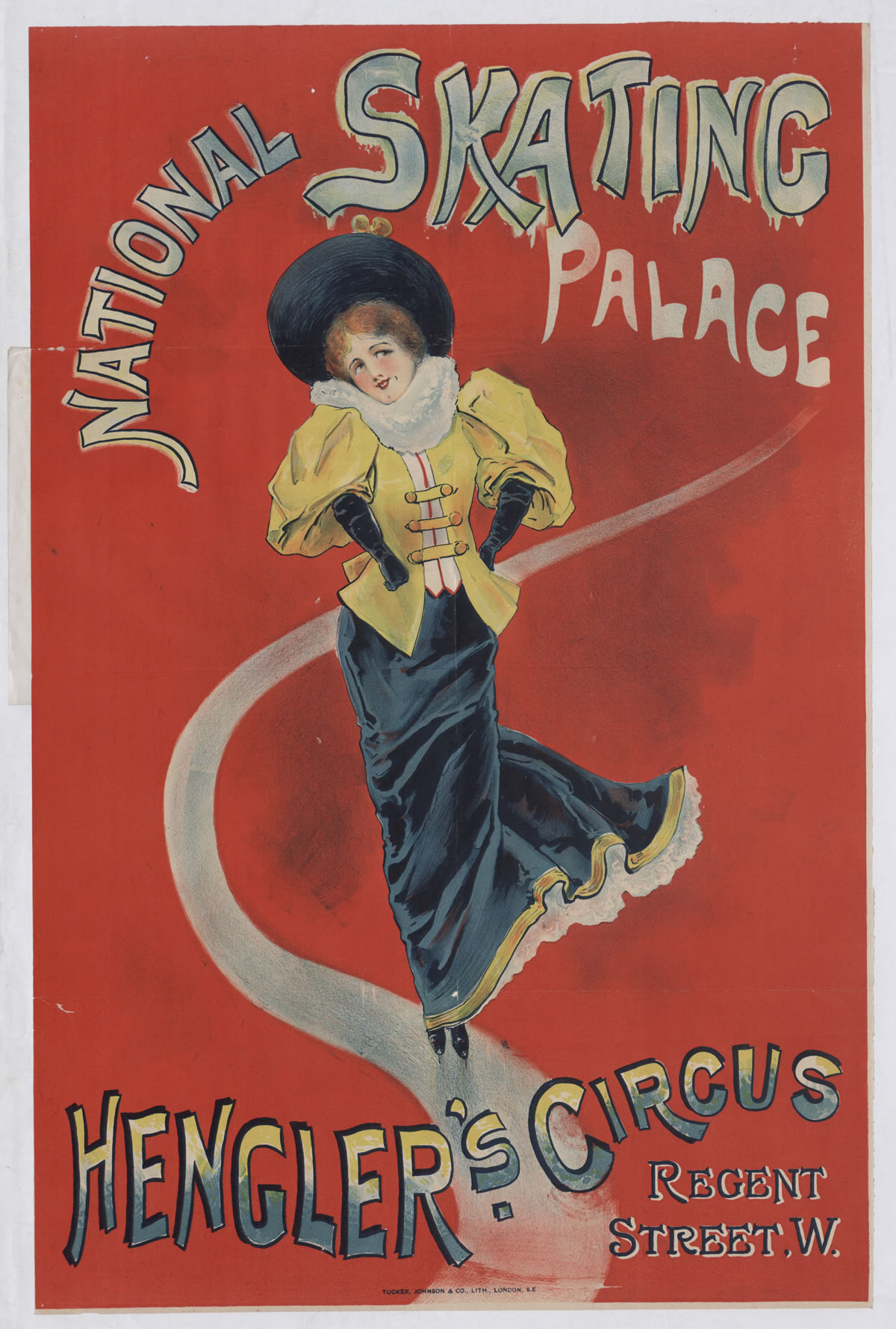 Advertisement for the National Skating Palace ice rink, 1895 (COPY 1/119 f.334)
