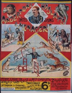 Image of Anderton and Haslams menagerie 1898