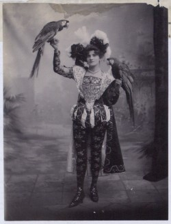 Image of Mrs Marzella and her birds