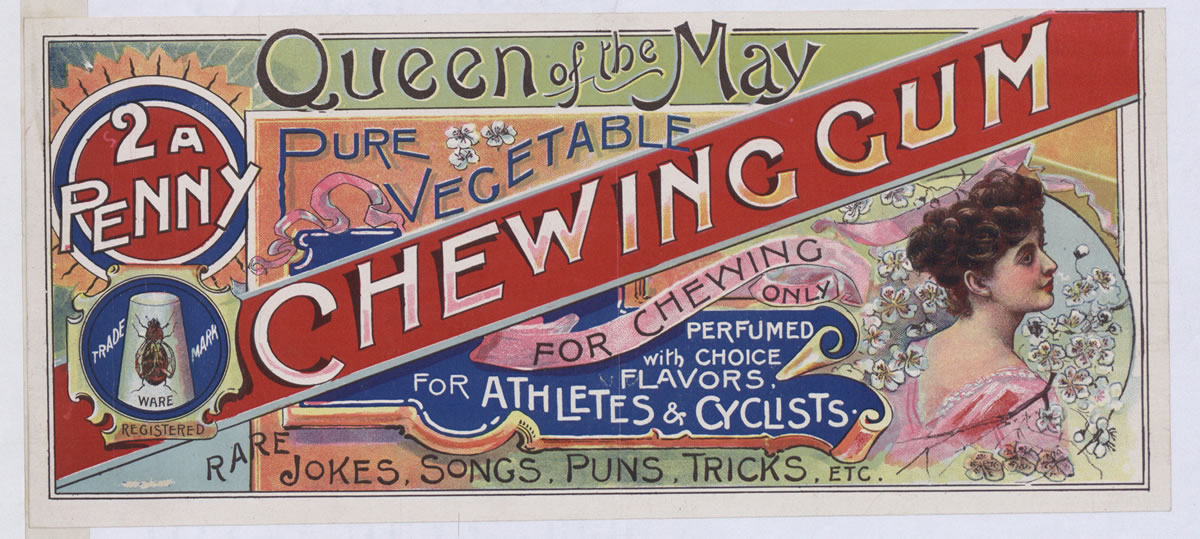 Advert for chewing gum,1895 (COPY 1/119 f.73)