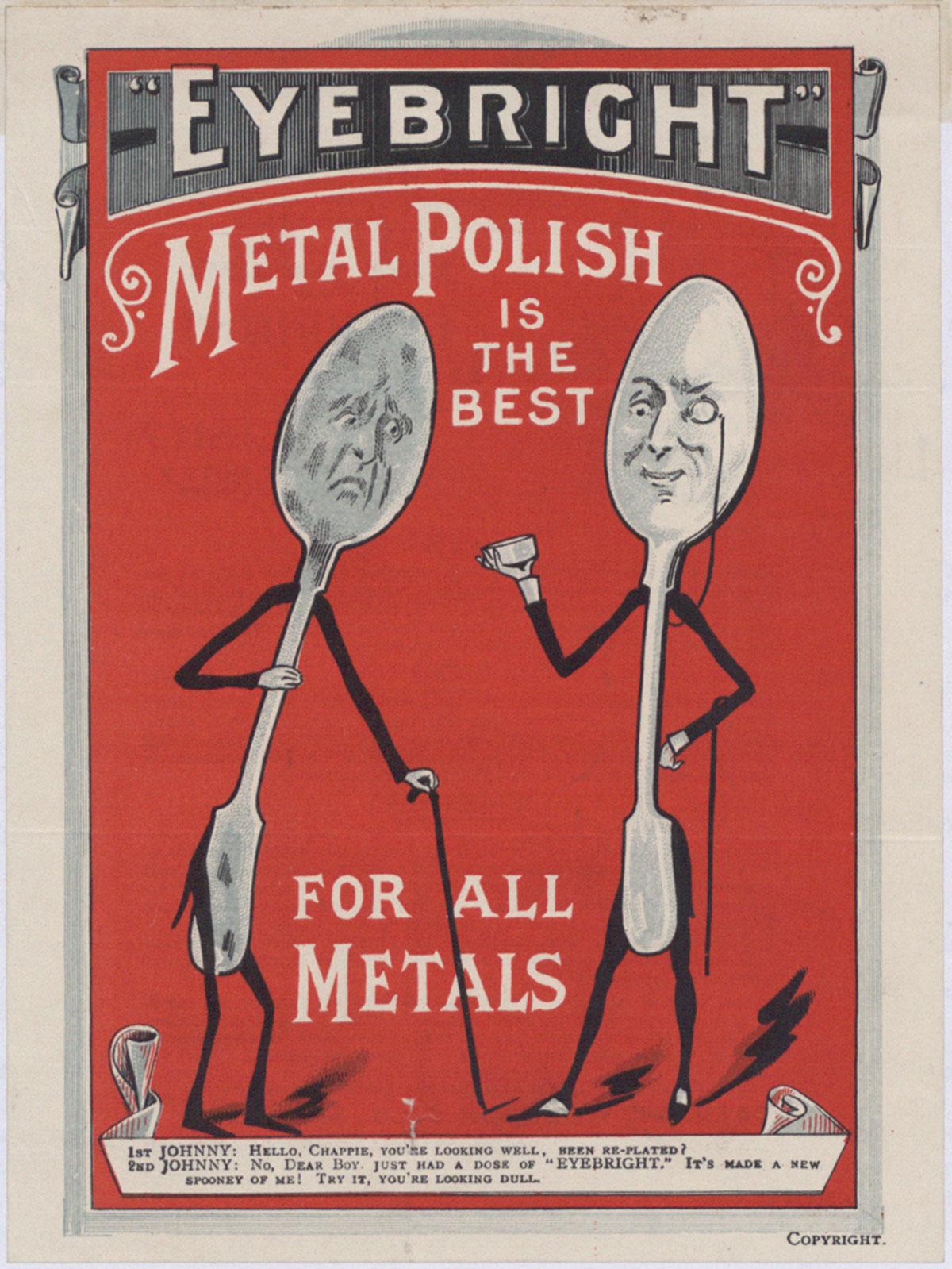 Advert for metal polish, 1897 (COPY 1/134 f.107)