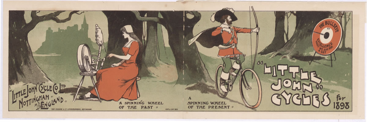 Advertisement for bicycles, 1897 (COPY 1/136 f.200)