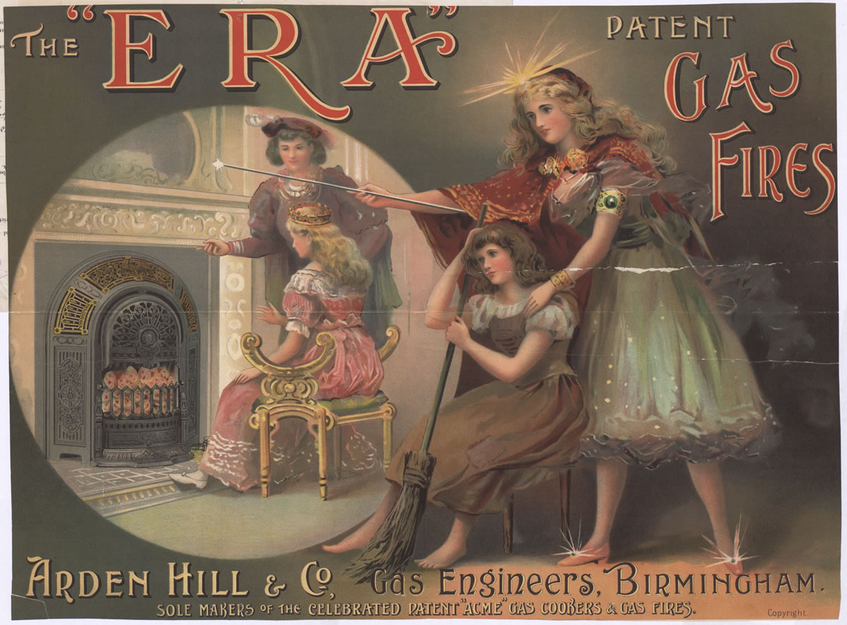 """Advertisement for """"Era"""" gas fires, 1901 (COPY 1/136 f.203)"""