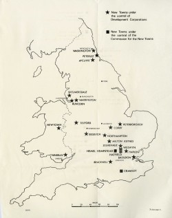 Image of Map of New Towns