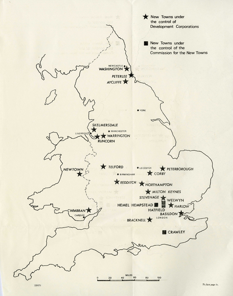 Map produced for the Commission for New Towns, 1969 (FJ 3/77)