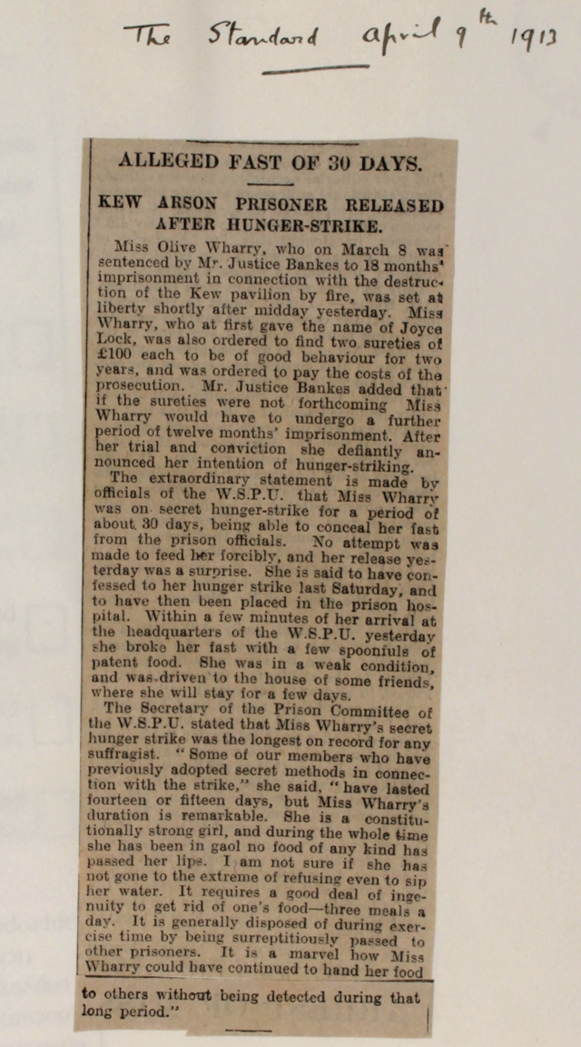 Article from The Standard, April 9th 1913 (HO 144/1205/221873)
