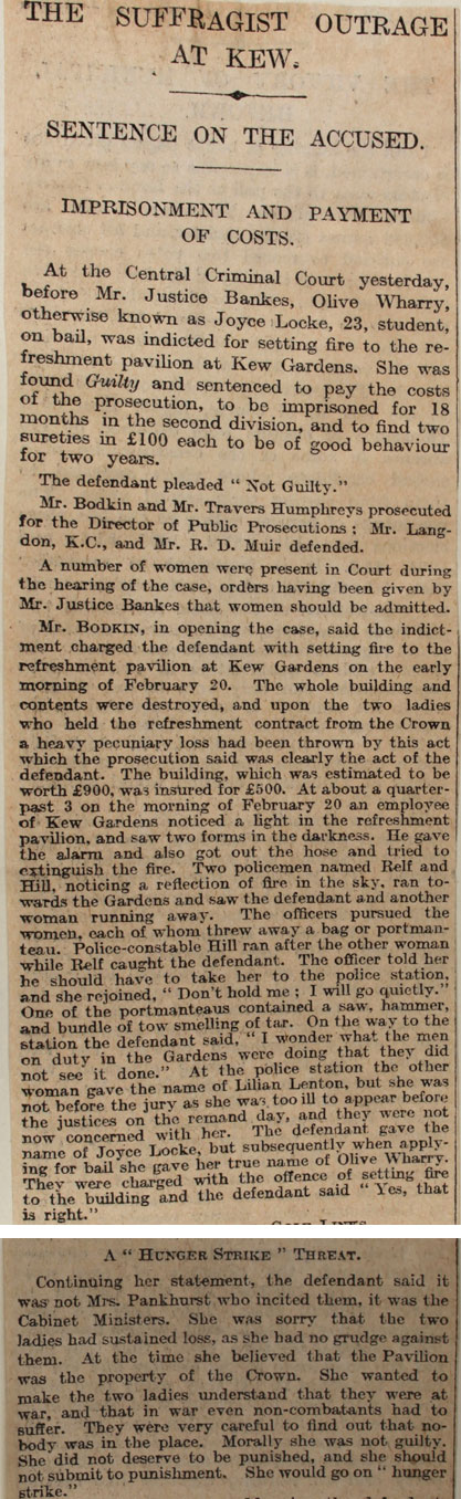 Extracts from The Times, 8th March 1913 (HO 144/1205/221873)