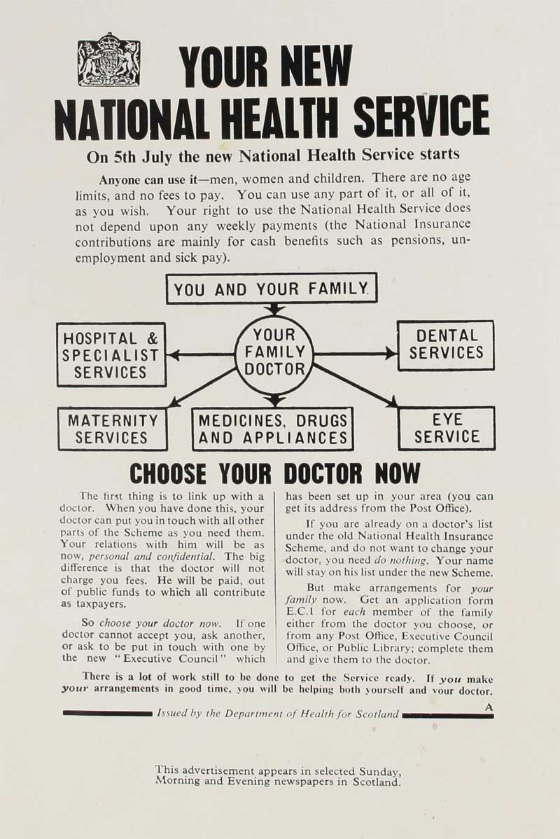 National Health Service leaflet, May 1948 (INF 2/66, page 15 )