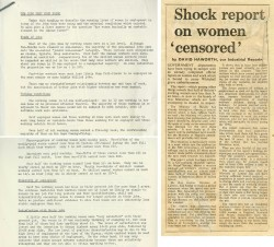 Image of Women report 'censored'