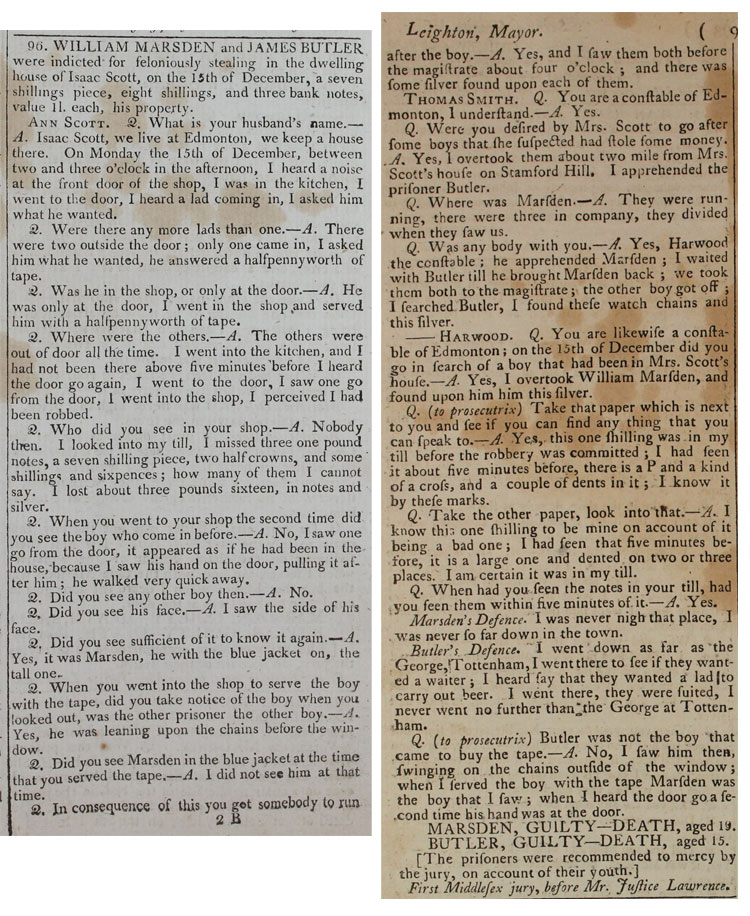 Proceedings of the Old Bailey, 14 January 1807, page 93 (Second session) (PCOM 1/14)