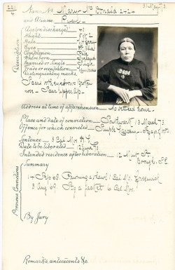 Image of Mary McDonald crime sheet