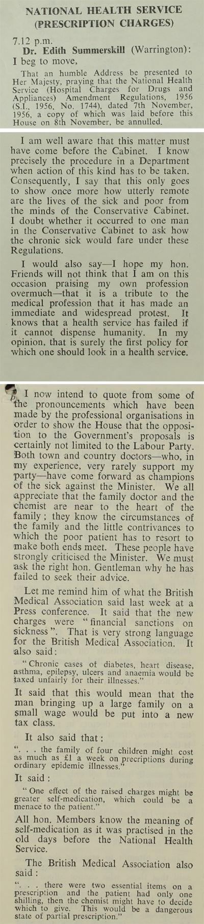 Extract from Hansard, 29th November 1956 (PREM 11/1493)