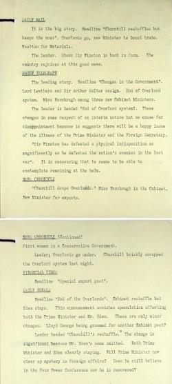 Image of Churchill reshuffles