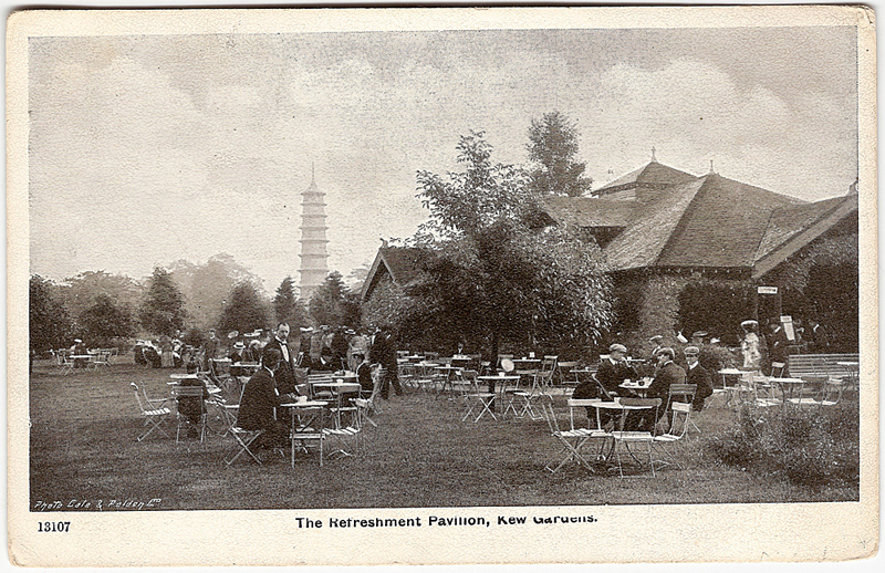 The Refreshment Pavilion, Kew Gardens, c.1910 (Private Collection)