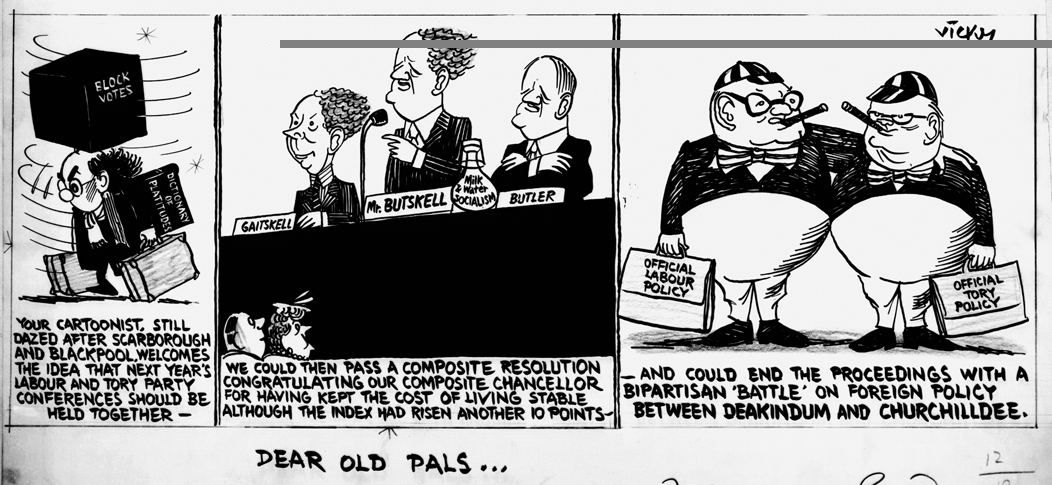 'Dear old pals', Cartoon by Vicky [Victor Weisz] from the Daily Mirror, 12th October 1954