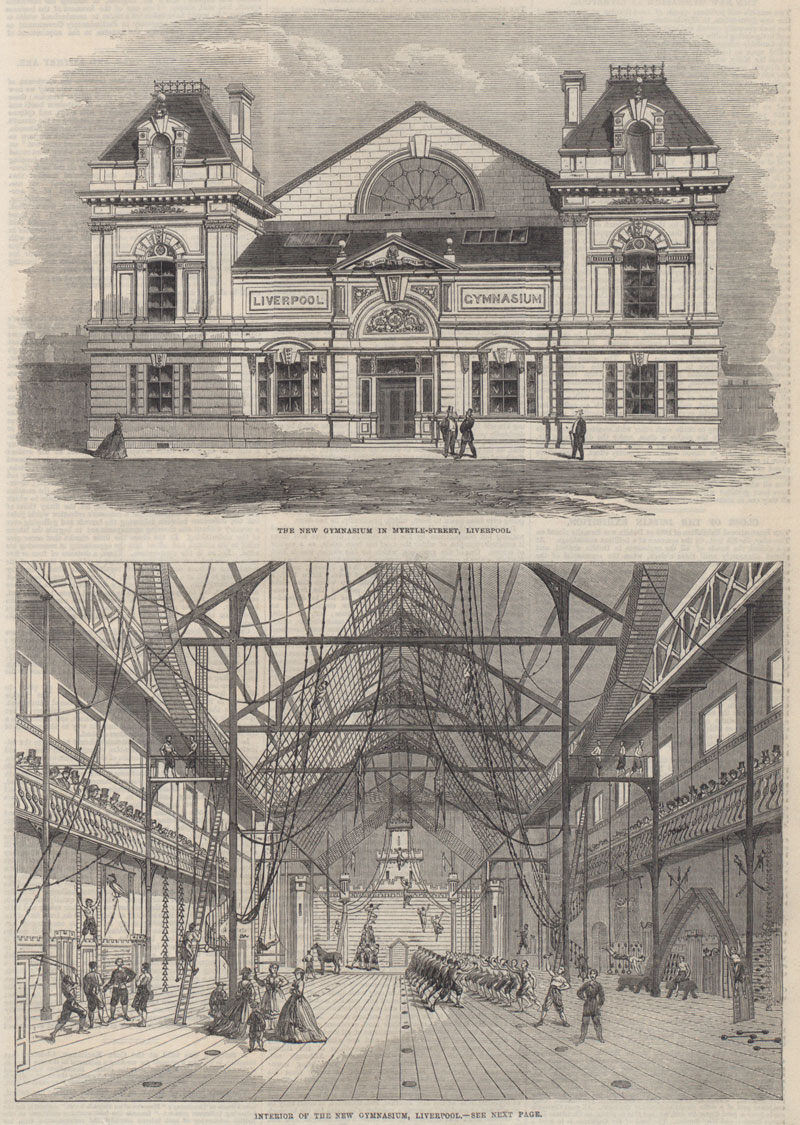 Liverpool gym, Illustrated London News, 1865 (ZPER 34/47)