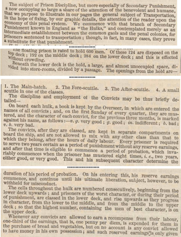 Extracts from London Illustrated News, 21 February 1846, page 125 (ZPER 34/8)