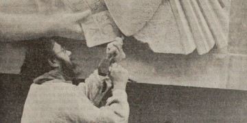 Image of Eric Gill at work