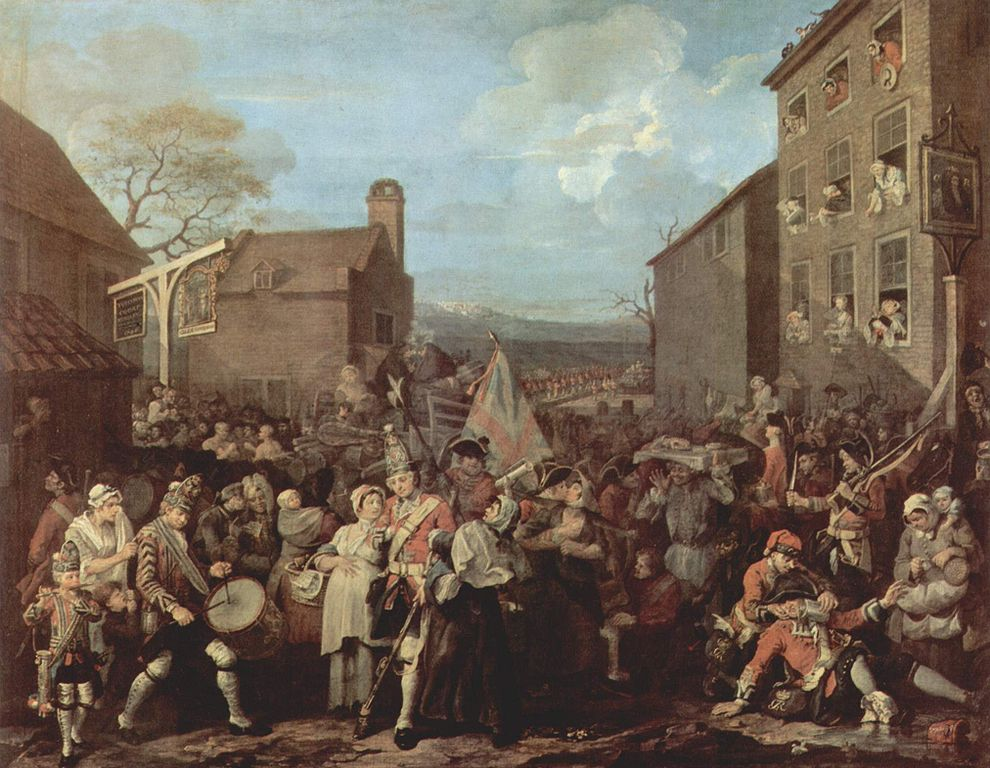 Guards to Finchley, 1750, by William Hogarth.