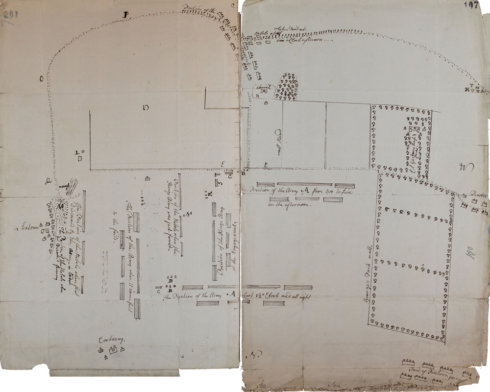 Plan of the Battle of Prestonpans, 1745 (SP 54/26 f71)