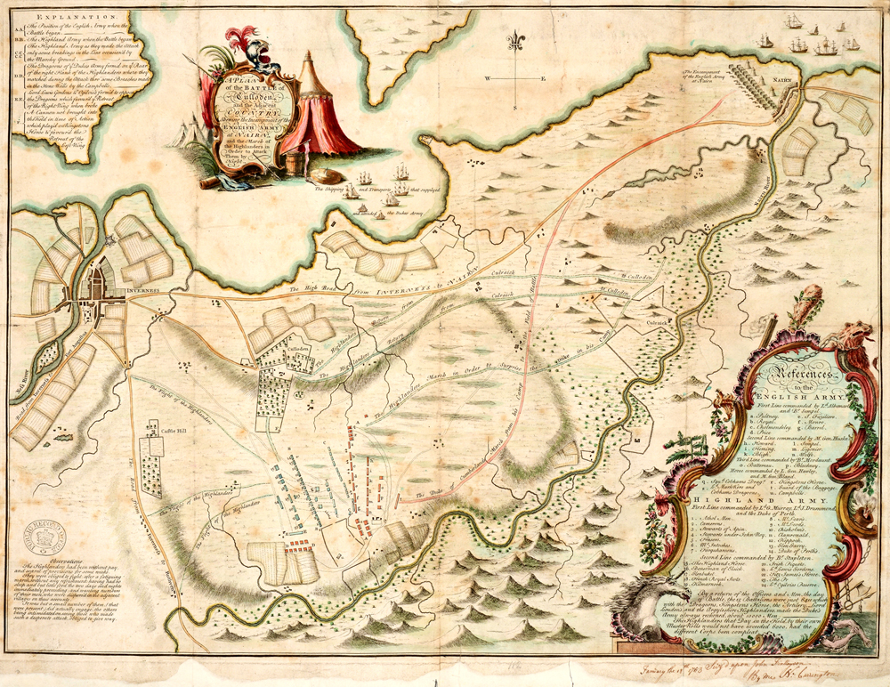 Battle plan of Culloden,1753 (MPF 1/1)