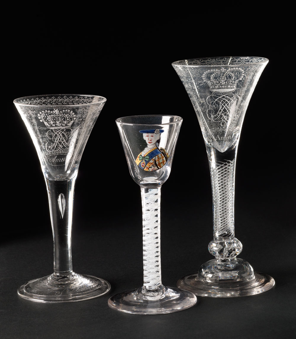 National Museums Scotland: Jacobite Wine glasses