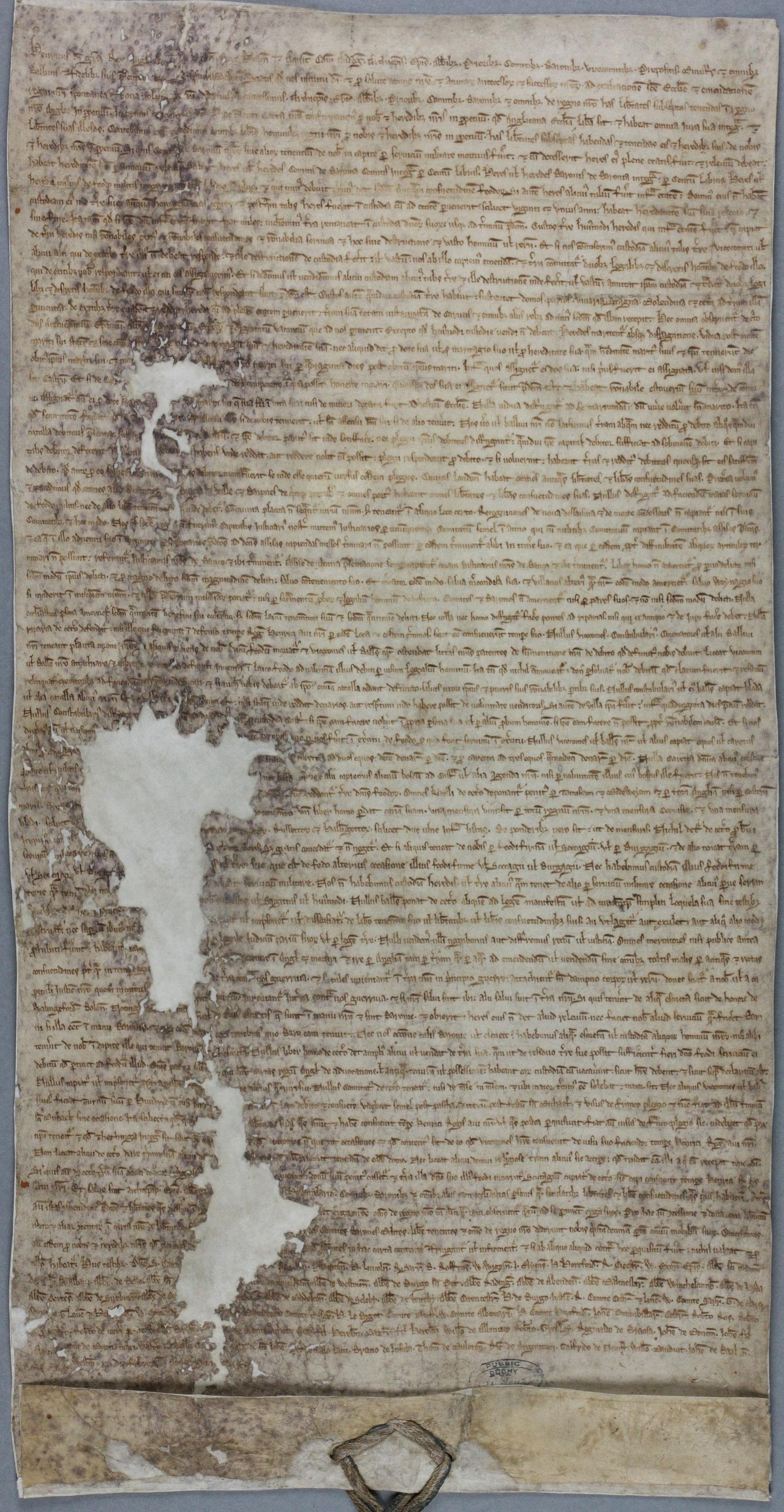Magna Carta, 1225, Westminster (DL 10/71)
