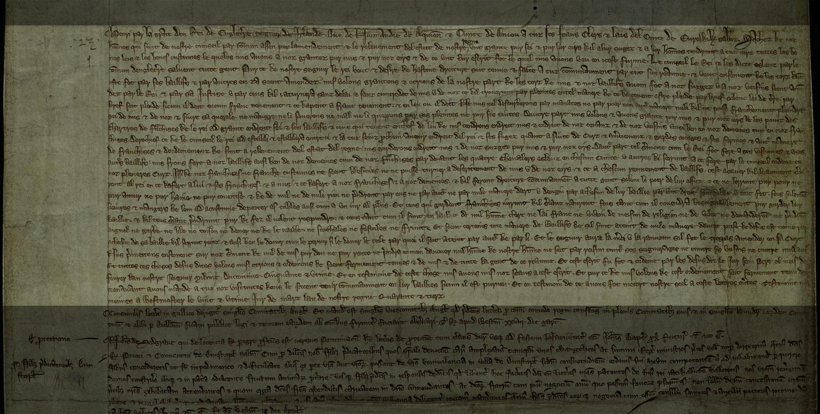 Ordinance of the Magnates, 1259 (C 66/73)