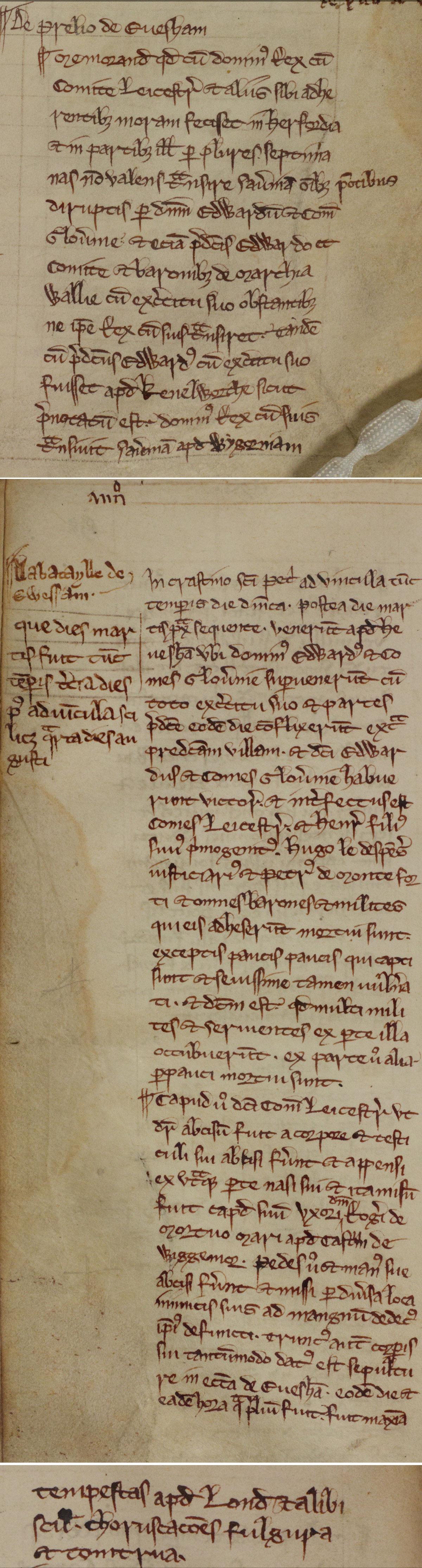 Battle of Evesham, 1265 (London Metropolitan Archive)