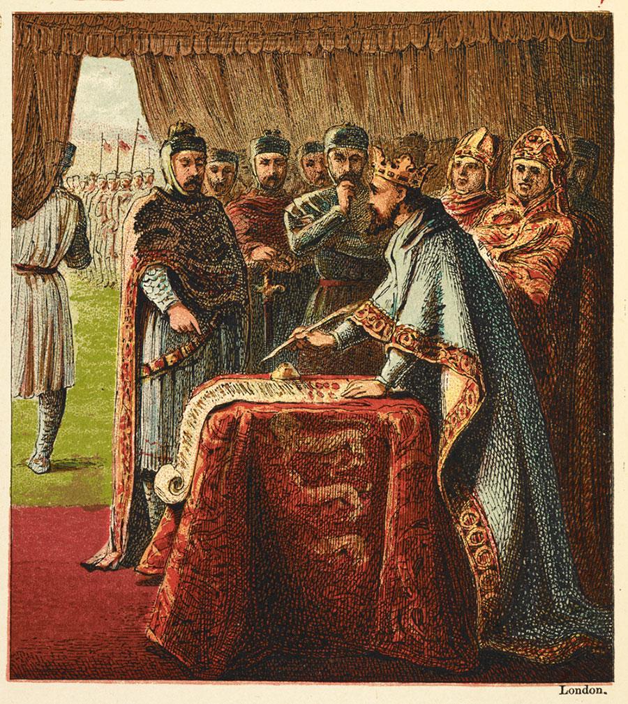 King John agrees to Magna Carta