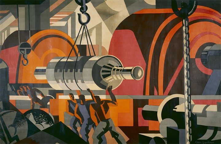 Empire Marketing Board 1927-1933 poster, Making Electrical Machinery