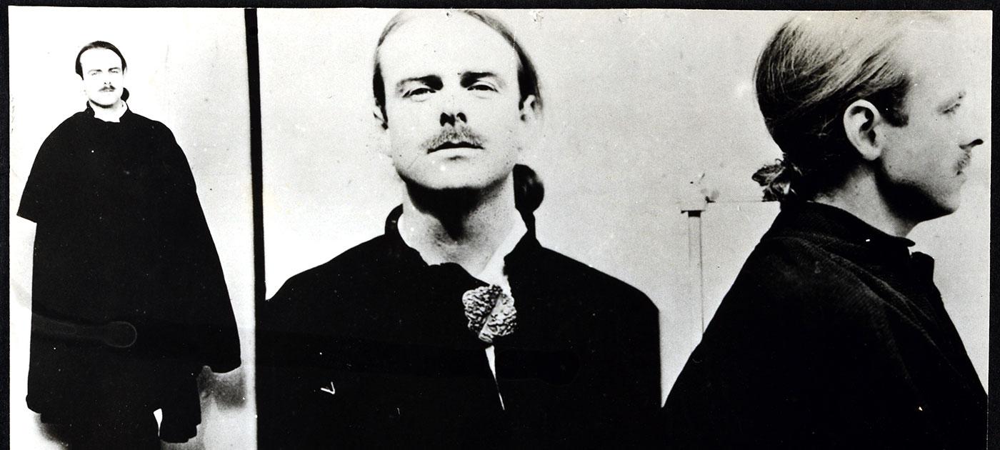 A police photograph of Geoffrey Wladislas Vaile Potocki de Montalk (catalogue reference: KV 6/129)
