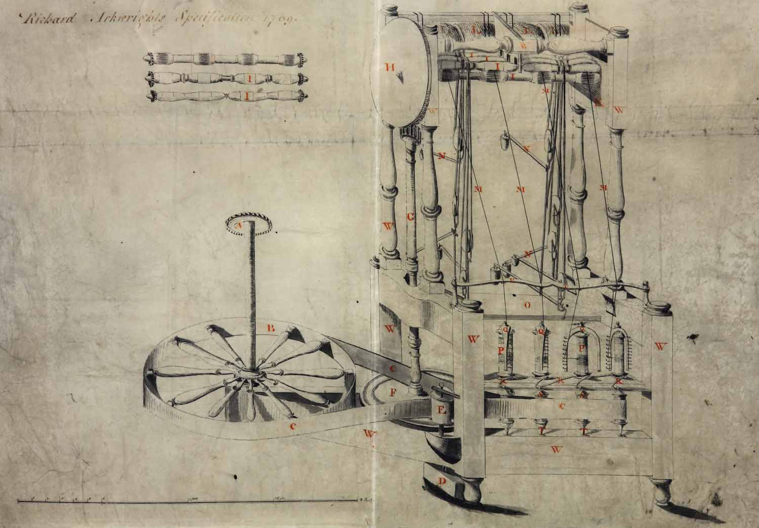 Richard Arkwright's specification for his spinning frame (1769) (C73/13 m31)